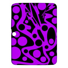 Purple and black abstract decor Samsung Galaxy Tab 3 (10.1 ) P5200 Hardshell Case