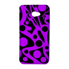 Purple and black abstract decor HTC Butterfly S/HTC 9060 Hardshell Case