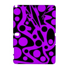 Purple and black abstract decor Samsung Galaxy Note 10.1 (P600) Hardshell Case