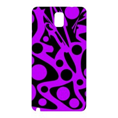 Purple and black abstract decor Samsung Galaxy Note 3 N9005 Hardshell Back Case