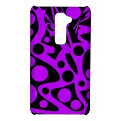 Purple and black abstract decor LG G2