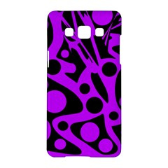 Purple and black abstract decor Samsung Galaxy A5 Hardshell Case