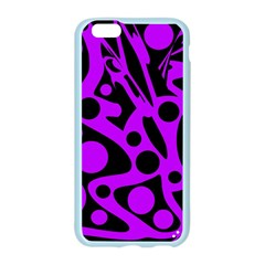 Purple and black abstract decor Apple Seamless iPhone 6/6S Case (Color)