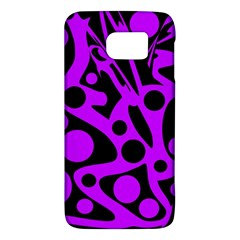 Purple and black abstract decor Galaxy S6