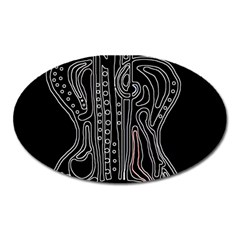 Decorative guitar Oval Magnet