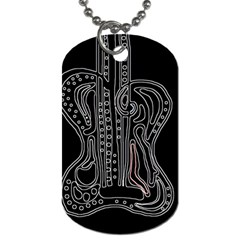 Decorative guitar Dog Tag (Two Sides)
