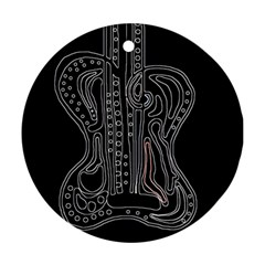 Decorative guitar Round Ornament (Two Sides)