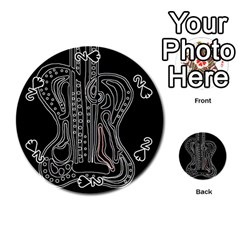 Decorative guitar Playing Cards 54 (Round)