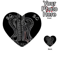 Decorative guitar Playing Cards 54 (Heart)