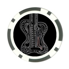 Decorative guitar Poker Chip Card Guards (10 pack)
