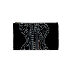 Decorative guitar Cosmetic Bag (Small)
