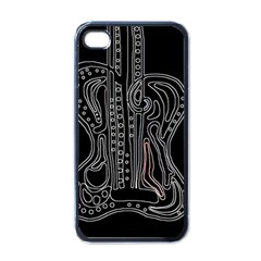 Decorative guitar Apple iPhone 4 Case (Black)