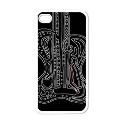 Decorative guitar Apple iPhone 4 Case (White)