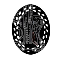 Decorative guitar Oval Filigree Ornament (2-Side)
