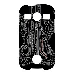 Decorative guitar Samsung Galaxy S7710 Xcover 2 Hardshell Case