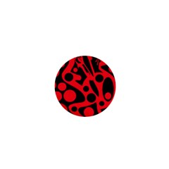 Red and black abstract decor 1  Mini Buttons