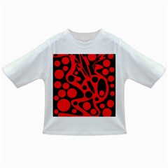 Red and black abstract decor Infant/Toddler T-Shirts
