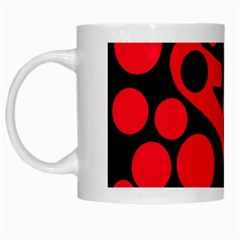 Red and black abstract decor White Mugs
