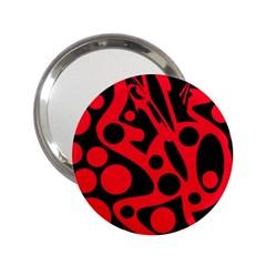 Red and black abstract decor 2.25  Handbag Mirrors