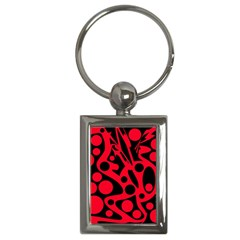 Red and black abstract decor Key Chains (Rectangle)