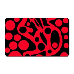 Red and black abstract decor Magnet (Rectangular)