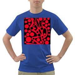 Red and black abstract decor Dark T-Shirt