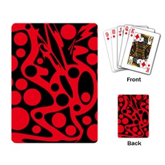 Red and black abstract decor Playing Card