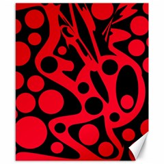 Red and black abstract decor Canvas 8  x 10