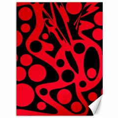 Red and black abstract decor Canvas 36  x 48