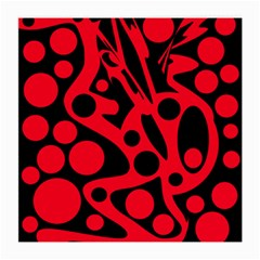Red and black abstract decor Medium Glasses Cloth (2-Side)
