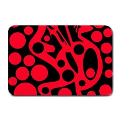 Red and black abstract decor Plate Mats