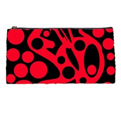 Red and black abstract decor Pencil Cases