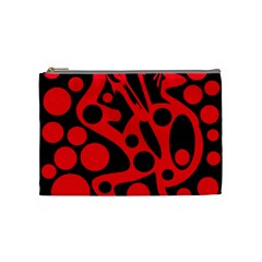 Red and black abstract decor Cosmetic Bag (Medium)
