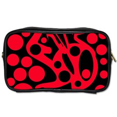 Red and black abstract decor Toiletries Bags 2-Side