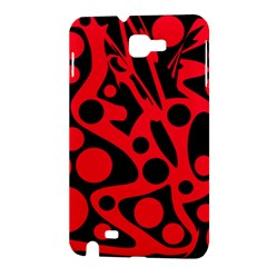 Red and black abstract decor Samsung Galaxy Note 1 Hardshell Case