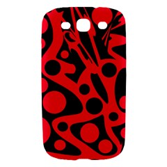 Red and black abstract decor Samsung Galaxy S III Hardshell Case