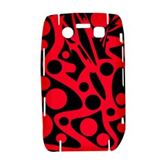 Red and black abstract decor Bold 9700