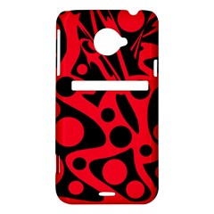 Red and black abstract decor HTC Evo 4G LTE Hardshell Case