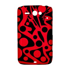 Red and black abstract decor HTC ChaCha / HTC Status Hardshell Case