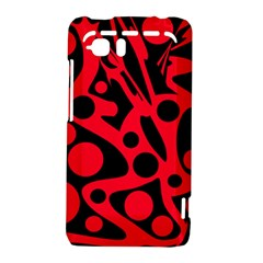 Red and black abstract decor HTC Vivid / Raider 4G Hardshell Case