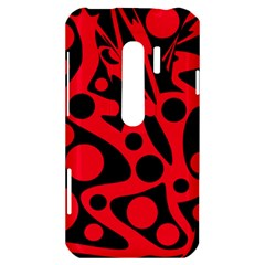 Red and black abstract decor HTC Evo 3D Hardshell Case