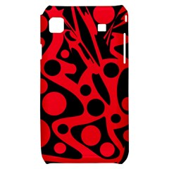 Red and black abstract decor Samsung Galaxy S i9000 Hardshell Case