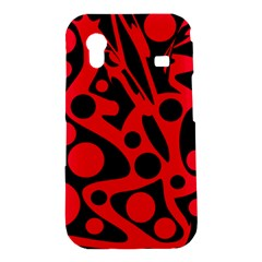 Red and black abstract decor Samsung Galaxy Ace S5830 Hardshell Case