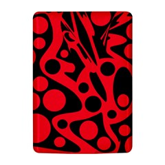 Red and black abstract decor Kindle 4
