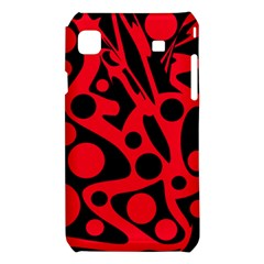 Red and black abstract decor Samsung Galaxy S i9008 Hardshell Case