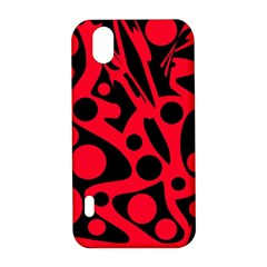 Red and black abstract decor LG Optimus P970