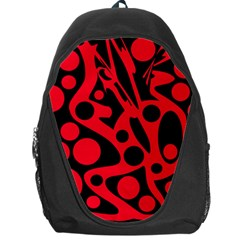 Red and black abstract decor Backpack Bag