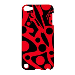 Red and black abstract decor Apple iPod Touch 5 Hardshell Case