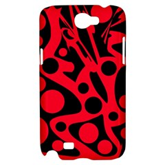 Red and black abstract decor Samsung Galaxy Note 2 Hardshell Case