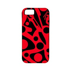 Red and black abstract decor Apple iPhone 5 Classic Hardshell Case (PC+Silicone)